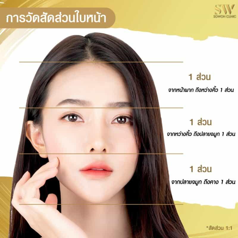 สัดส่วนใบหน้าที่สวยงาม โซวอน